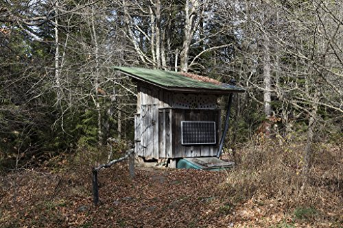 24 x 36 Giclee print ofÊAn outbuilding receiving energy from its own solar panel at the Mountain Institute a community of conservationists on the slopes of Spruce Knob the highest point in the All by Vintography