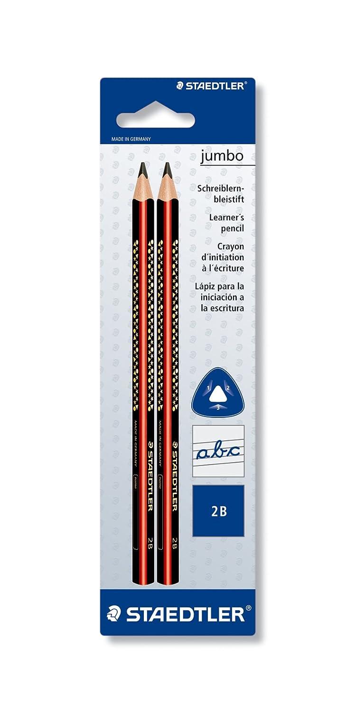 Staedtler 12851bk2Noris Club Jumbo penna stilografica, Durezza 2B, Blister da 2pezzi 1285 1BK2 ST