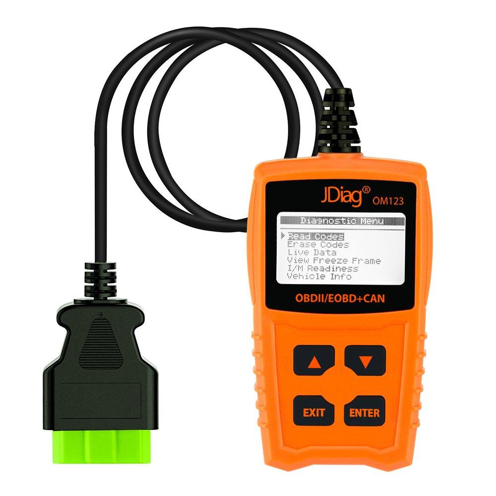 JDiag OM123 Car OBD2 Scanner Automotive Code Reader Check Engine Light Diagnostics Scan Tool for all OBDII Cars Vehicles