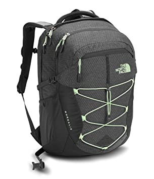 The North Face Women's Borealis Backpack - Asphalt Grey Dark Heather/Subtle  Green - One
