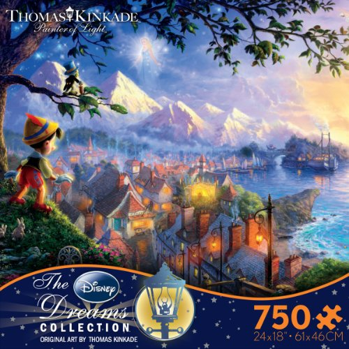 Thomas Kinkaid Disney Dreams - Pinocchio 750 Piece Jigsaw Puzzle 24 x 18in