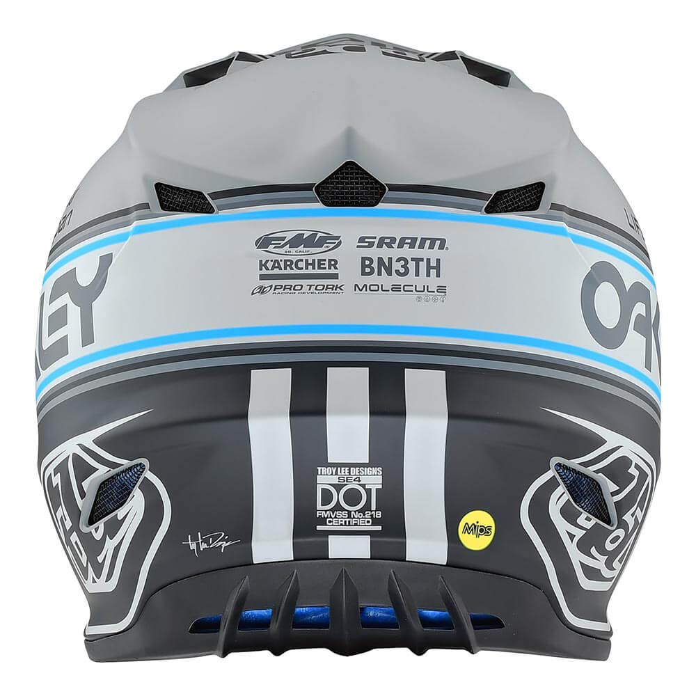 Gray, X-Large Troy Lee Designs SE4 Polyacrylite Team Edition 2 Off-Road Motocross Helmet 109672005