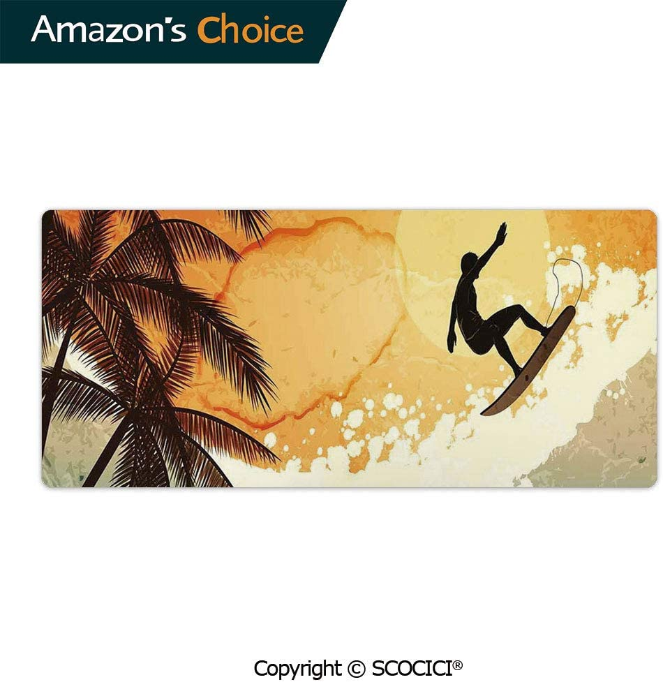 Romantic Sloth Falling in Love Different Heart Figures Valentines Day Custom Design Waterproof Non-Slip Rubber Base Mousepad 23.6 x 11.8 AmaUncle Professional Gaming Mouse Pad