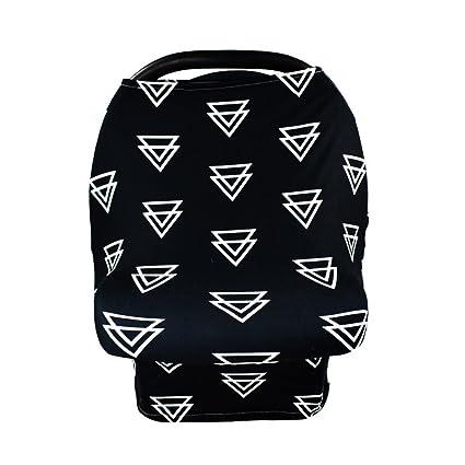 6 patrones estilo cesta de bebé parasol multiusos toalla de lactancia para la compra Carro cubierta black triangle Talla:31x70x66cm