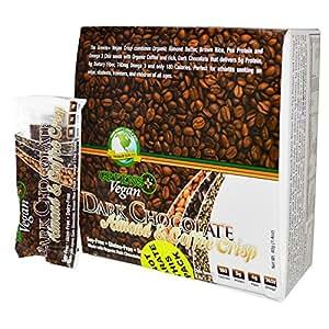 Greens Plus Vegan Crisp Dark Chocolate Almond and Coffee -- 12 Bars