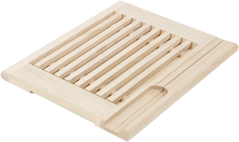 Tabla de cortar pan de madera natural 35,5 x 28,5 x 2 cm. Tabla de ...