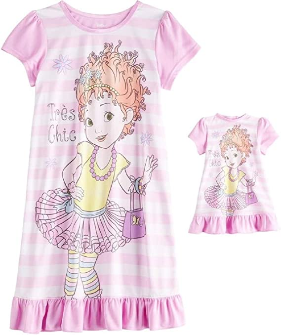 Fancy Nancy Nightgown for Girls and Matching Doll Nightgown 2 pc