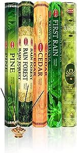HEM Incense Forest Cedar Pine Rain Forest First Rain 5 x 20, 100 Sticks