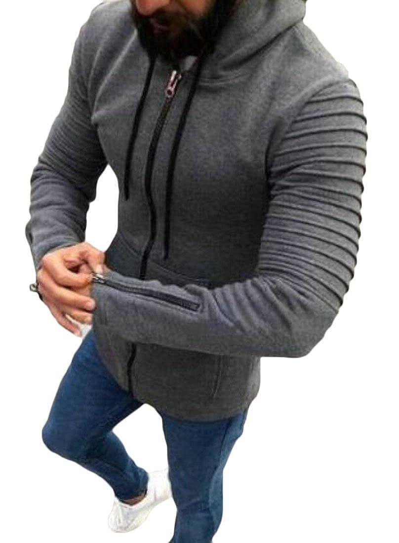 S-Fly Mens Sport Skinny Hoodies Sweatshirt Jackets