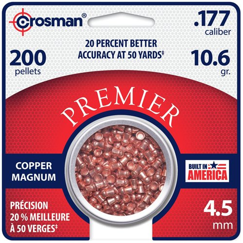 Crosman 177 Copper Magnum Domed Pellet (200 CT)