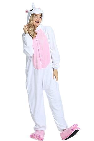 Kenmont Unisexo Adulto Pijama Traje Cosplay Animal Pyjamas Unicornio Animal Ropa de Dormir (Large,