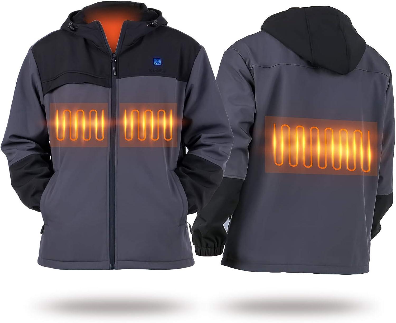 IUREK Heated Jacket ZD962 Men Electric Heating Jacket Rechargeable Heated Clothing