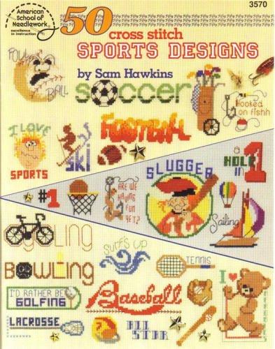 50 Cross Stitch Sports Designs by Sam Hawkins