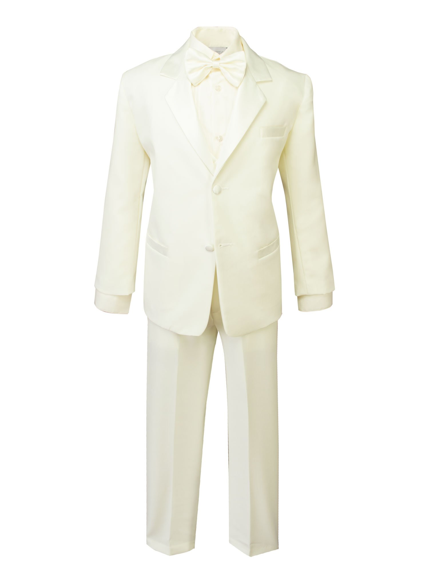 Spring Notion Boys' Classic Fit Tuxedo Set, No Tail 8 Ivory