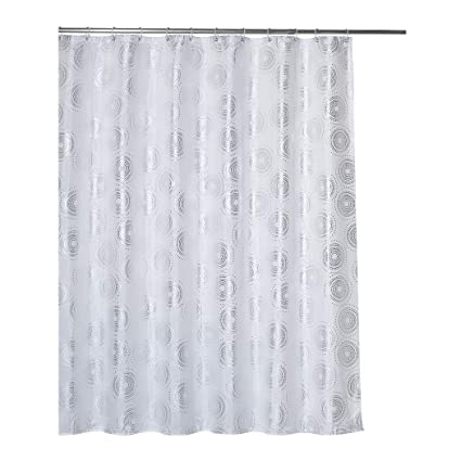 Rama Rose Shower Curtain With Hooks For Bathroom Silver Circle Printed Decoration 7072 Inches