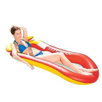 iBellete Colchoneta Piscina Hinchable Inflables para Playa Flotadores Flotador Piscina Playa Tumbona Piscina para Adultos y Niños Flotante Silla Cama Hamaca ...