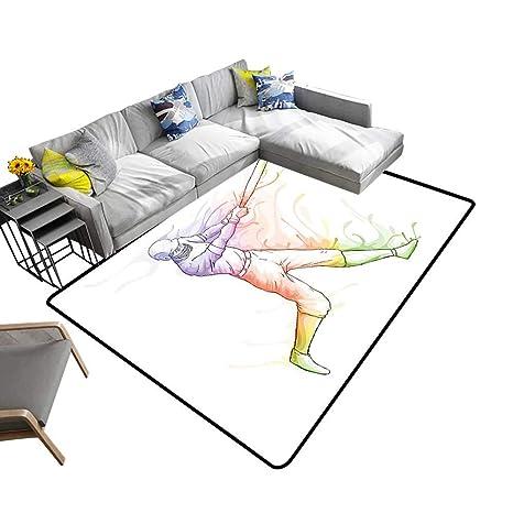 Peachy Amazon Com Alsohome Abstract Design Area Rug Baseball Beutiful Home Inspiration Cosmmahrainfo