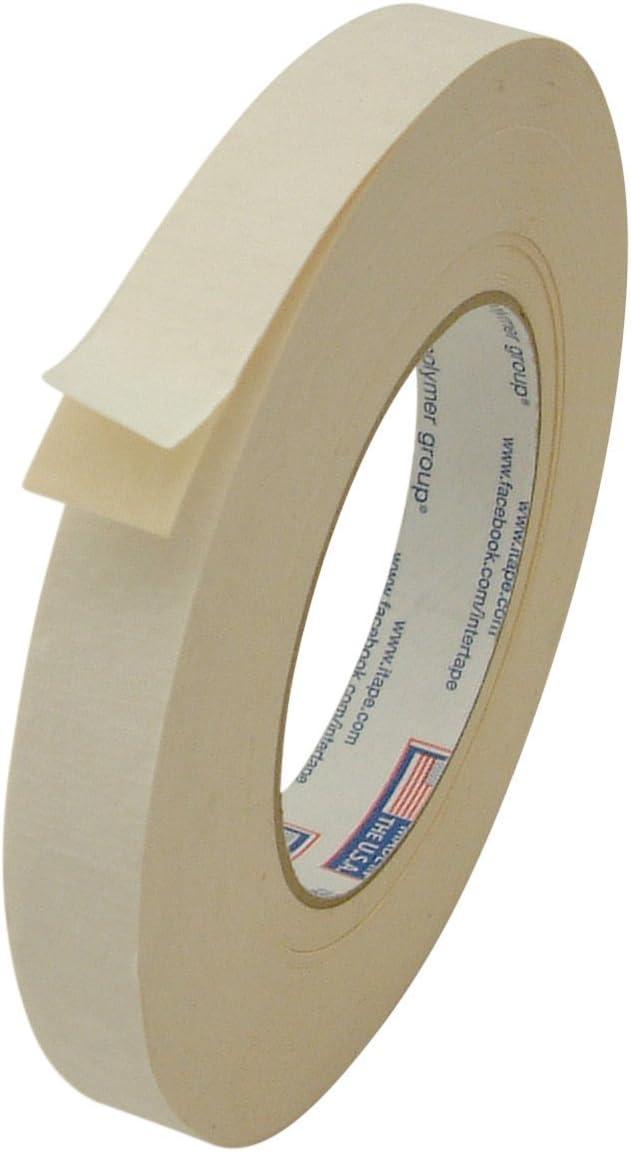 "Intertape 591/BEIG07536 591 Double Sided Flat Back Paper Tape: 3/4"" x 36 yd, Beige"