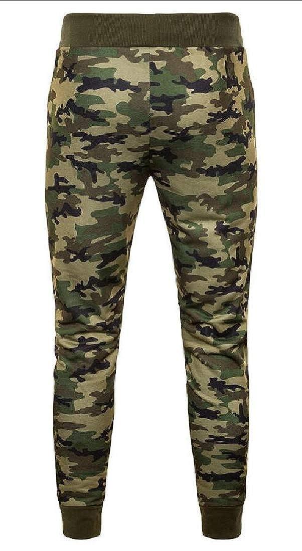 WSPLYSPJY Mens Pants Camouflage Plus Size Elastic Waist Baggy Trousers