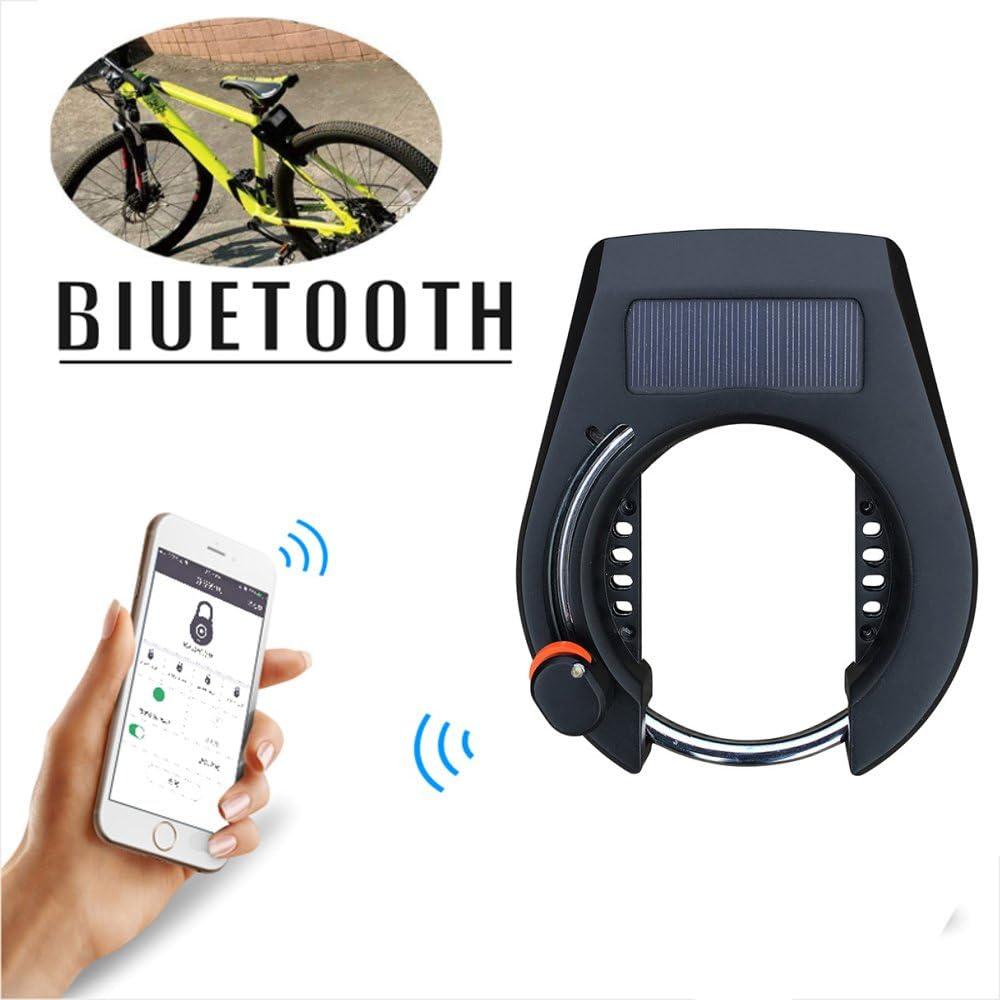 Keyless Bluetooth Smart Chain Lock Anti Theft Alarm For Bike Gate APP Control❤GE