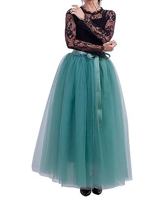 ba45f8d503171e Xiongfeng® Damen Tüllrock Maxirock 5 Layer Lang Tüll Hochzeit Prinzessin  Rock: Amazon.de: Bekleidung