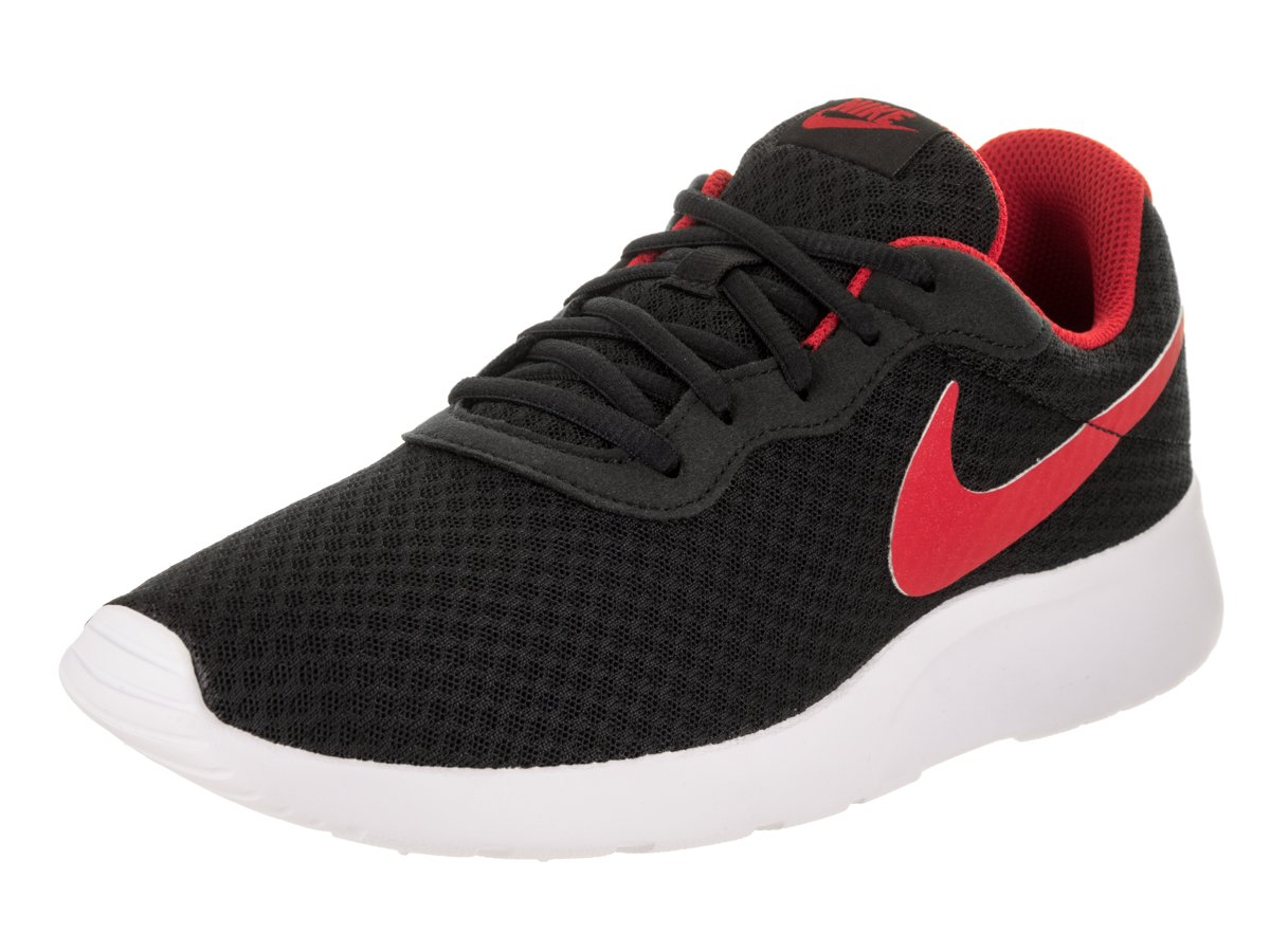NIKE Men's Tanjun Sneakers, Breathable Textile Uppers and Comfortable Lightweight Cushioning B06Y19NH41 7.5 D(M) US|Black / University Red-white