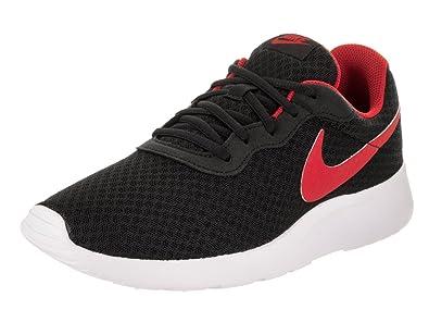 b95de0e1a453e Nike Men's Tanjun Black / University Red-white Running Shoe 12 Men US