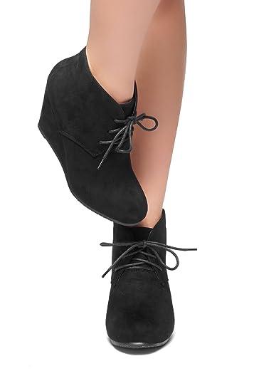 Amazon.com | Herstyle Corlina Women's Wedge Ankle Boot Low Heel ...