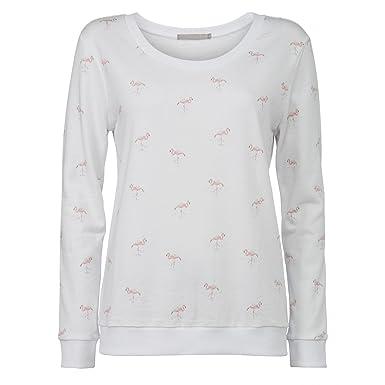 140b3be2ad00 YaYa AOP SWEATSHIRT Flamingo Pullover Damen - L  Amazon.de  Bekleidung