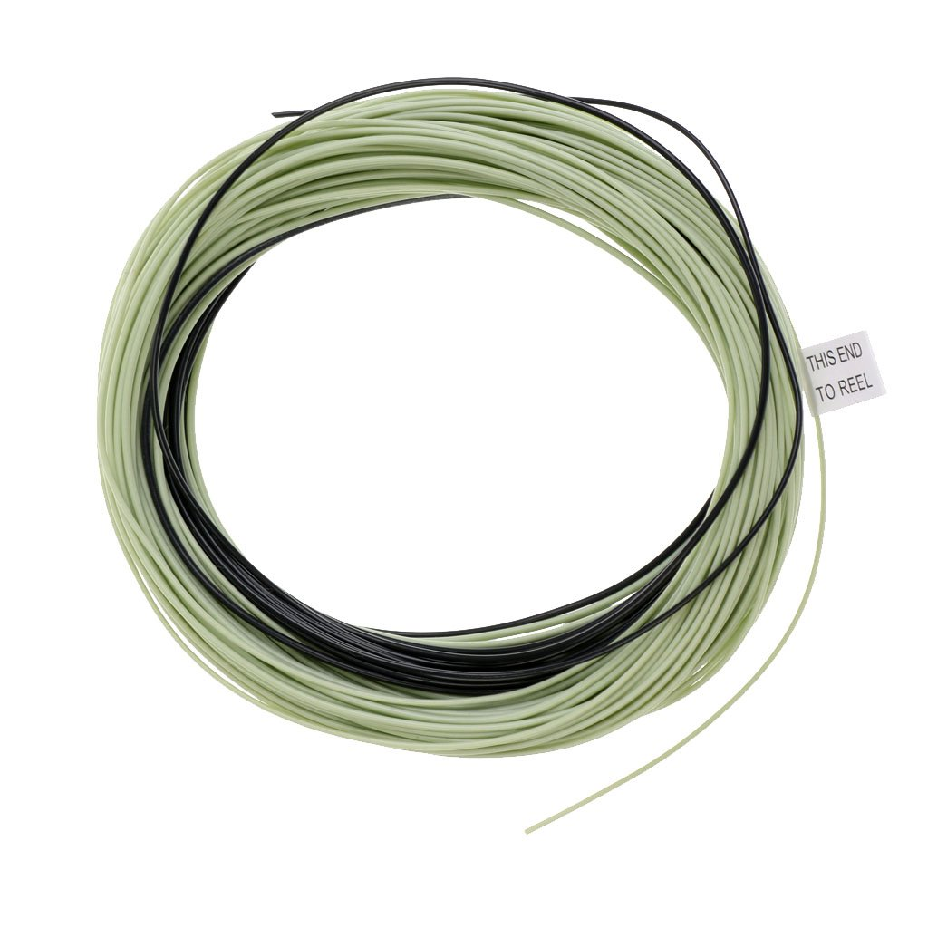 MagiDeal 100ft Weight Forward Floating Fly Fishing Line /& Sink Tip Moss Green WF4//5//6 F//S