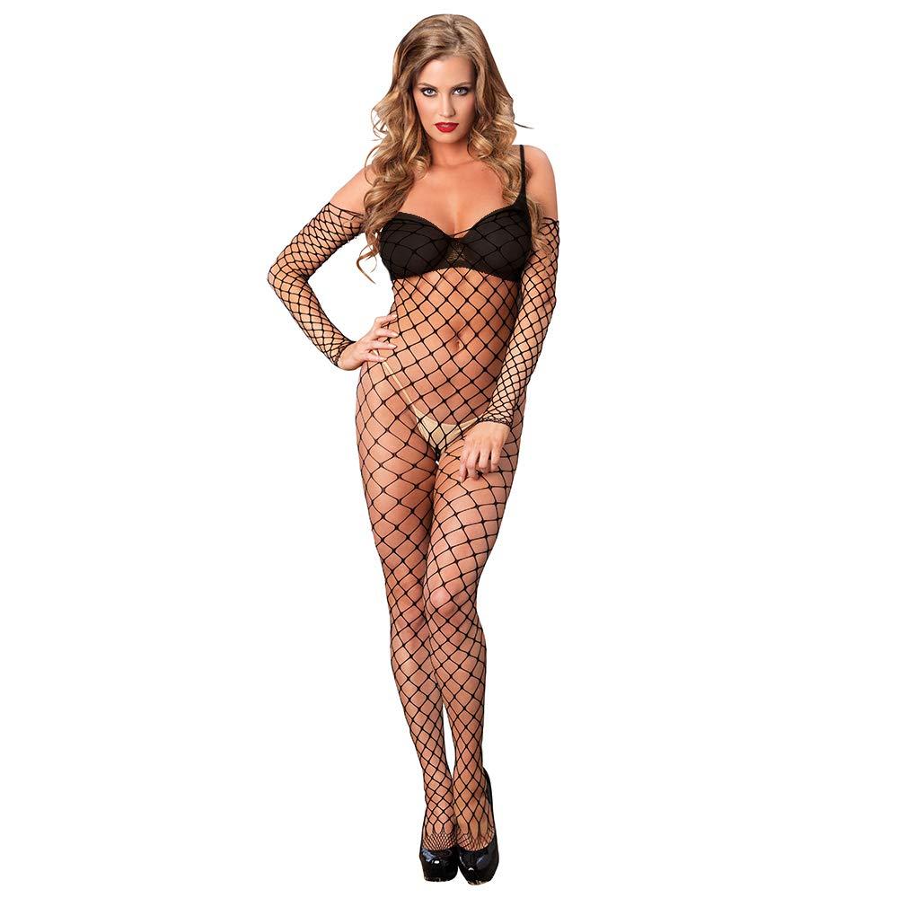 Leg Avenue Women's Fence Net Off the Shoulder Bodystocking Leg Avenue Women' s Socks/Hosiery 8914222001