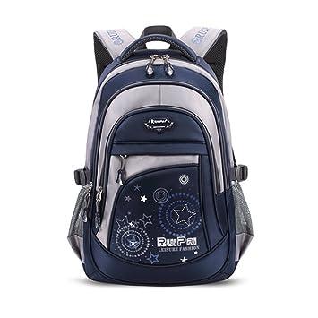 Oudan Unisex School Schoolbag mochila escolar para la escuela de trabajo de viajes de ocio (Color : Azul, tamaño : Un tamaño): Amazon.es: Equipaje