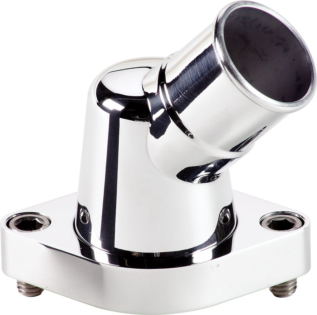 Billet Specialties 90420 Polished 45 Degree Swivel Thermostat Housing by Billet Specialties