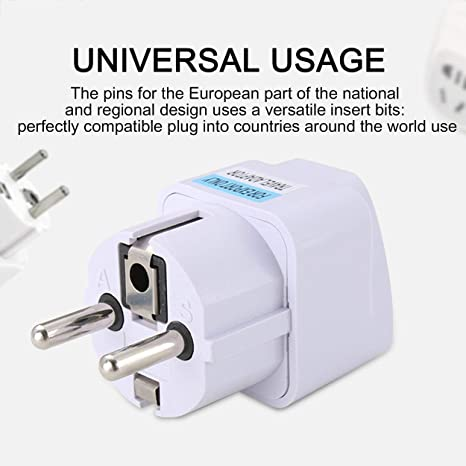 Lorenlli Universal EU AC Power Socket Plug Travel Charger Adapter Converter Convertisseur Adaptateur Standard Europ/éen Plug Travel Plug