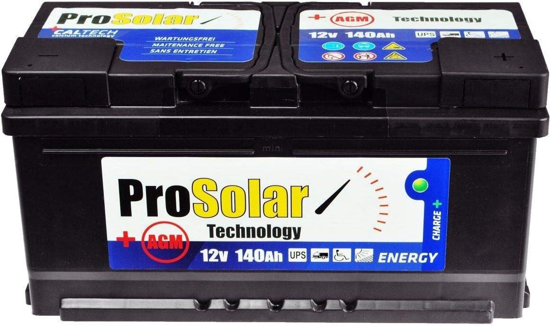 AGM 140Ah Solar Batería SAI 12V prosolar libre de mantenimiento en lugar de 150Ah 120Ah Gel