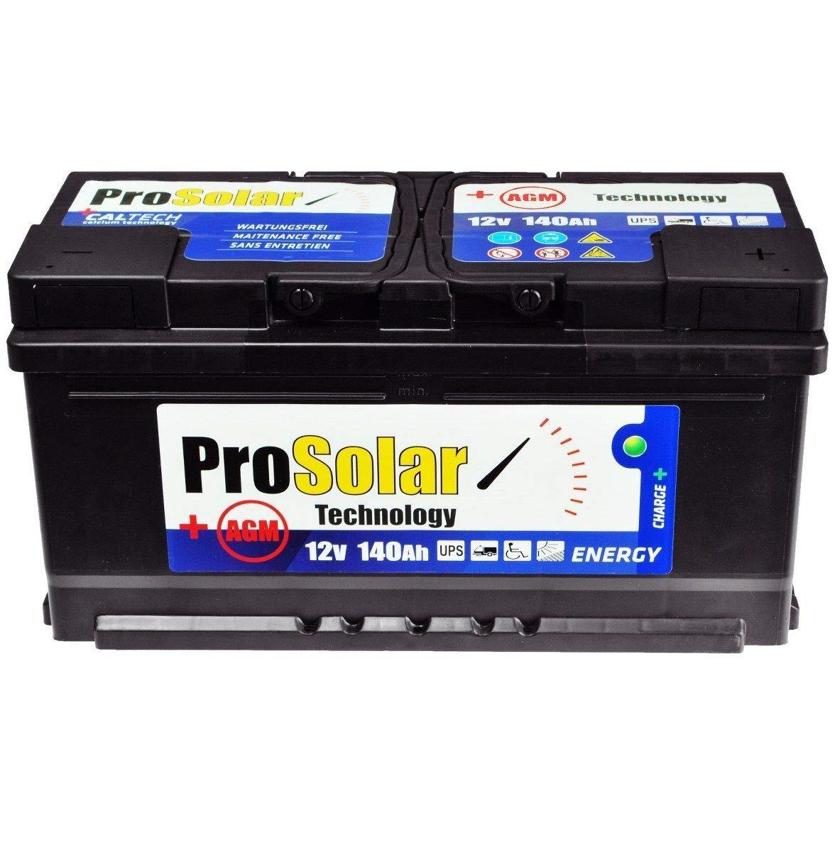 AGM - Batteria solare da 140 Ah, USV, 12 V, ProSolar, senza manutenzione, 150 Ah, 120 Ah