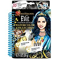 Make It Real – Disney Descendants Watercolor Small. Disney Inspired Water Coloring Book for Girls. Includes Evie Watercolor Sketchbook, Paint Brushes, Watercolor Paints, Stencils, Stickers, and More
