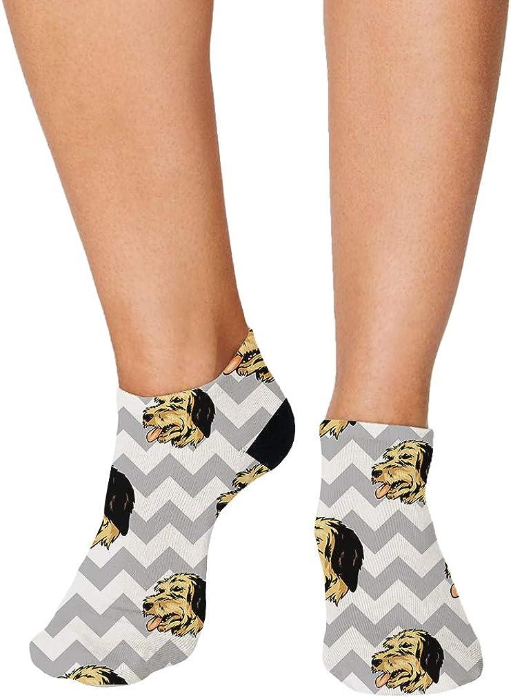 Bosnian Coarsehaired Hound Dog Pattern #6 Men-Women Adult Ankle Socks