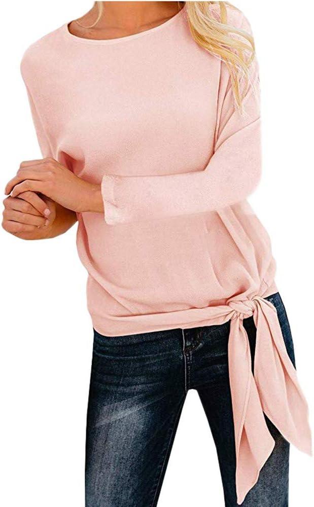 ALIKEEY Chemise Blanche Femme Manteau Femme Hiver Grande Taille T-Shirt /à Manches Longues en Vrac avec des Femmes