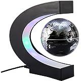 Globo Fluttuante con LED Levitazione Magnetica C Forma di sfera World Map Idee Regalo per l'Istruzione Imparare Insegnare Ufficio Decorazione della Casa