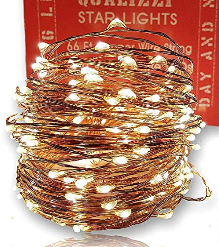 Forest Decor Enchanted (Qualizzi Starry Lights with Remote Control/Dimmable (66 Feet/200 LEDs). Very Pretty Bright Fairy Light Effects on Led Copper Wire String Lightings. Enjoy Magic Decorative Garlands All Year Around)
