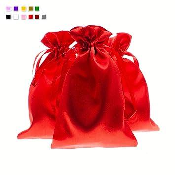 Amazon.com: Bolsas de lino y bolsas de satén de seda suave ...