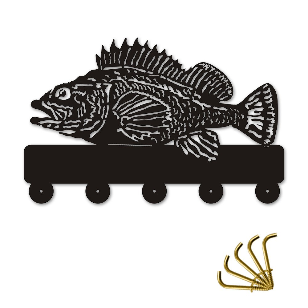 Rock Fish Shape Design Sea Animals Creative Wall Decor Art Wall Hooks Clothes Coat Towel Hooks Keys Holder Bathroom Kitchen Hanger Decor Hooks by The Geeky Days (Image #7)