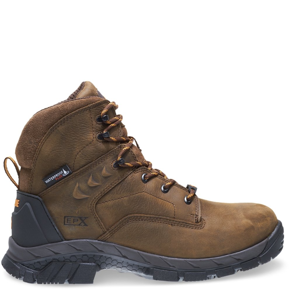 Wolverine Men's Glacier Ice Insulated Waterproof 6'' Comp Toe Work Boot, Summer Brown, 9 M US
