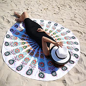 JCDZH-FT Mandala Alfombras Tapices redondo toalla de playa adjunta sofás de tela toalla manteles estera del yoga por Sen: Amazon.es: Hogar