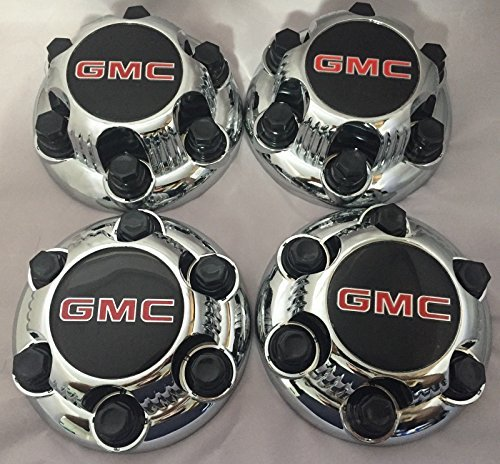 (REPLACEMENT PART: Set of 4 Chrome GMC Sierra Yukon Savana 6 Lug 1500 Center Caps 16