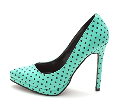 Report Womens Tashy Pointed Toe Classic Pumps Teal Size 6.0