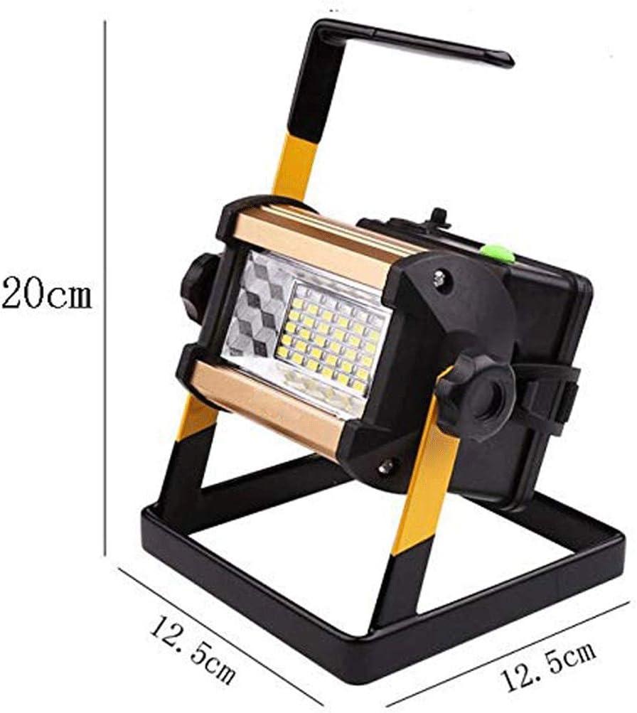 100W LED-buitenverlichting Schijnwerper, Lamp Schijnwerper COB LED's Spotlight-tuinlamp Met 6x 18650 Batterij En Oplader Energie-efficiëntieklasse A ++ (Color : B) A