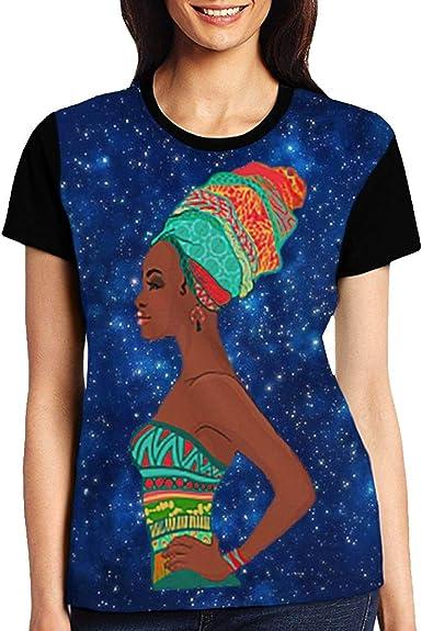 BIAN-64 Black Girl Magic African Girl Summer Womens Girl 3D Printed T-Shirts Gifts