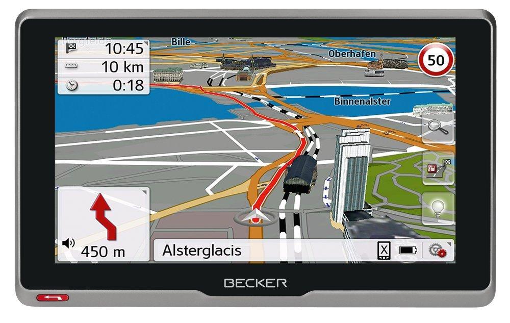 Becker 200073Active. 6S CE GPS (15,8cm (6,2pouces) Écran tactile capacitif en verre véritable, 20pays, carte mises à jour à vie, TMC, Flash Warner), noir low-cost